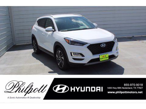 White Cream Hyundai Tucson Sport.  Click to enlarge.