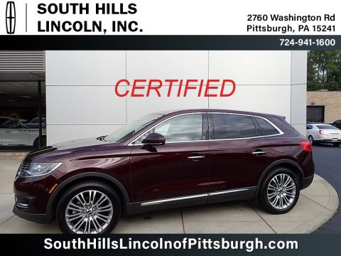 Burgundy Velvet Metallic Lincoln MKX Reserve AWD.  Click to enlarge.