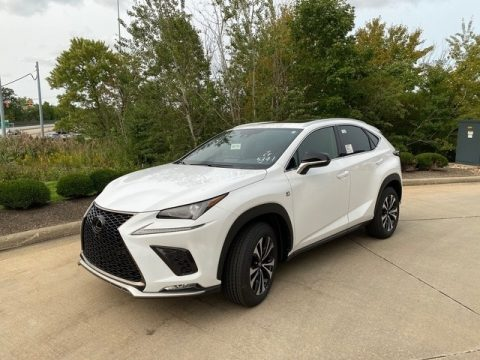 Ultra White Lexus NX 300 F Sport AWD.  Click to enlarge.