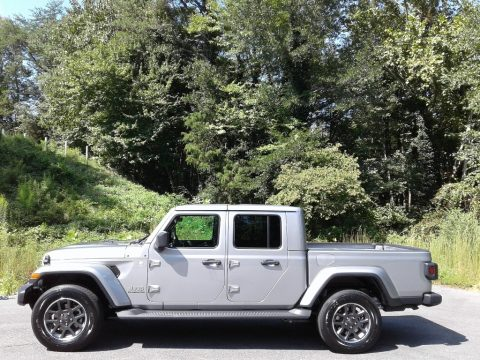Billet Silver Metallic Jeep Gladiator Overland 4x4.  Click to enlarge.