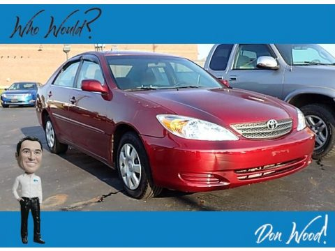 Salsa Red Pearl Toyota Camry LE.  Click to enlarge.