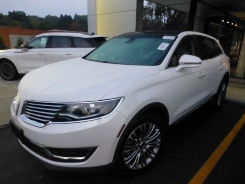 White Platinum Metallic Tri-Coat Lincoln MKX Reserve AWD.  Click to enlarge.