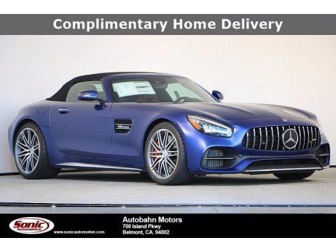 designo Brilliant Blue Magno (Matte) Mercedes-Benz AMG GT C Roadster.  Click to enlarge.
