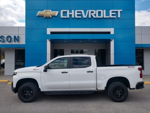 Summit White Chevrolet Silverado 1500 LT Trail Boss Crew Cab 4x4.  Click to enlarge.