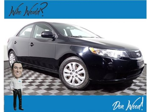 Ebony Black Kia Forte EX.  Click to enlarge.