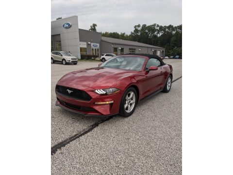 Ruby Red Ford Mustang EcoBoost Convertible.  Click to enlarge.