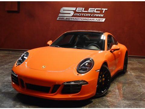 Lava Orange Porsche 911 Carrera GTS Coupe.  Click to enlarge.