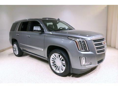 Satin Steel Metallic Cadillac Escalade Platinum 4WD.  Click to enlarge.