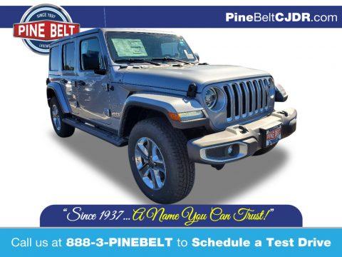 Billet Silver Metallic Jeep Wrangler Unlimited Sahara 4x4.  Click to enlarge.