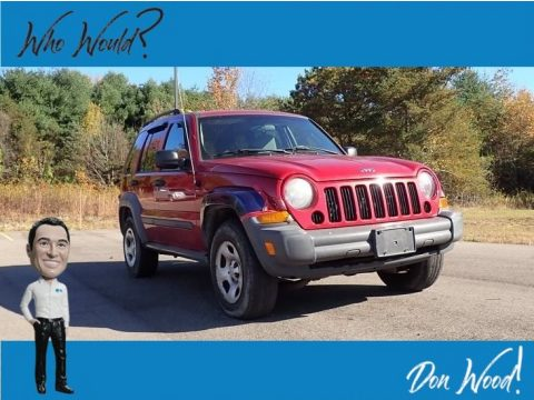 Inferno Red Crystal Pearl Jeep Liberty Sport 4x4.  Click to enlarge.