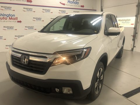 Platinum White Pearl Honda Ridgeline Sport AWD.  Click to enlarge.