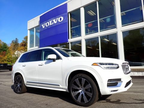Crystal White Metallic Volvo XC90 T6 AWD Inscription.  Click to enlarge.