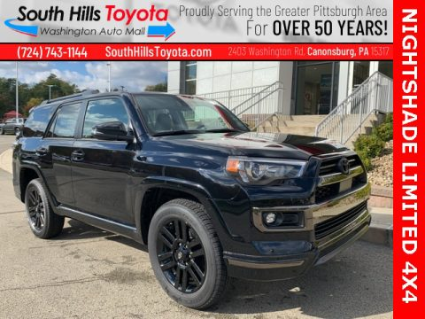 Midnight Black Metallic Toyota 4Runner Nightshade 4x4.  Click to enlarge.