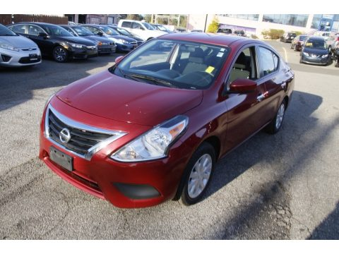 Cayenne Red Metallic Nissan Versa SV.  Click to enlarge.