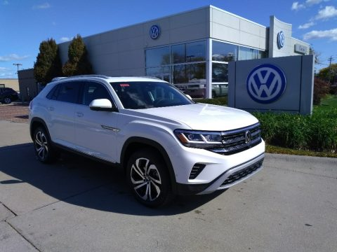 Pure White Volkswagen Atlas Cross Sport SEL 4Motion.  Click to enlarge.