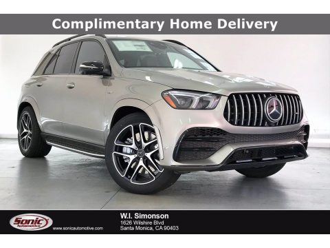 Mojave Silver Metallic Mercedes-Benz GLE 53 AMG 4Matic.  Click to enlarge.