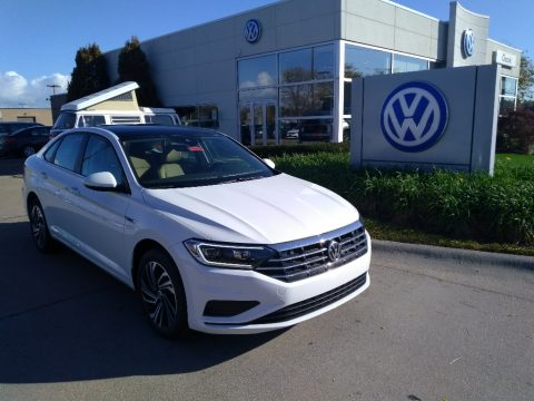 Pure White Volkswagen Jetta R-Line.  Click to enlarge.