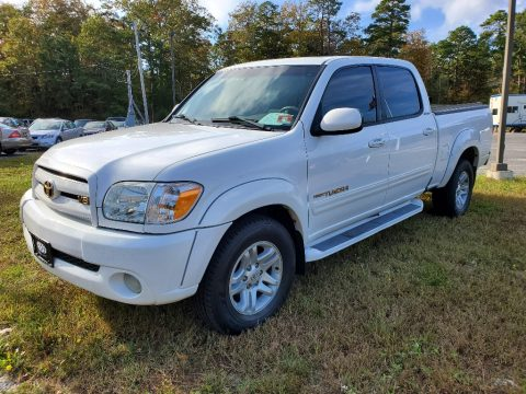 Natural White Toyota Tundra Limited Double Cab 4x4.  Click to enlarge.