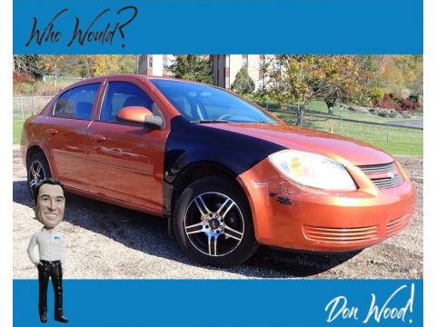 Sunburst Orange Metallic Chevrolet Cobalt LT Sedan.  Click to enlarge.