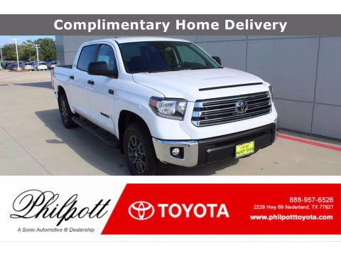 Super White Toyota Tundra SR5 CrewMax 4x4.  Click to enlarge.