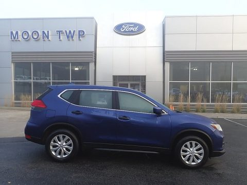 Caspian Blue Nissan Rogue S AWD.  Click to enlarge.