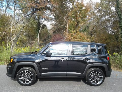 Black Jeep Renegade Jeepster 4x4.  Click to enlarge.