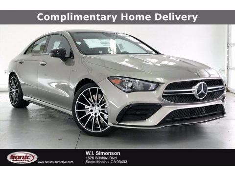 Mojave Silver Metallic Mercedes-Benz CLA AMG 35 Coupe.  Click to enlarge.