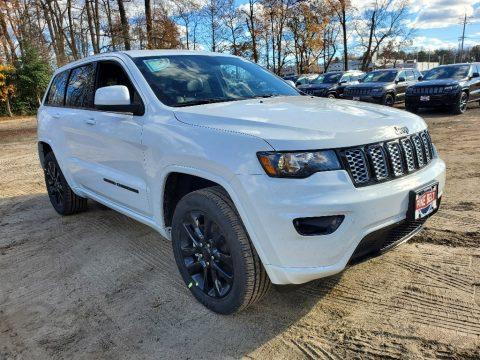 Bright White Jeep Grand Cherokee Laredo 4x4.  Click to enlarge.