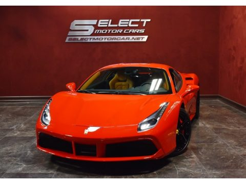 Rosso Corsa (Red) Ferrari 488 GTB .  Click to enlarge.