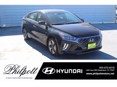 Black Noir Pearl Hyundai Ioniq Hybrid SEL.  Click to enlarge.