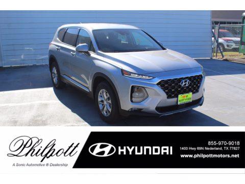 Shimmering Silver Pearl Hyundai Santa Fe SEL.  Click to enlarge.