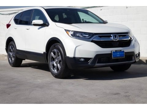 Platinum White Pearl Honda CR-V EX.  Click to enlarge.