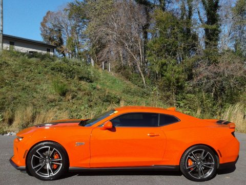 Crush (Orange) Chevrolet Camaro SS Coupe Hot Wheels Package.  Click to enlarge.