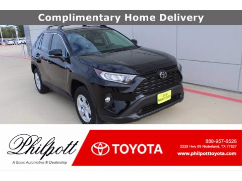 Midnight Black Metallic Toyota RAV4 XLE.  Click to enlarge.