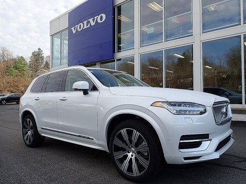 Crystal White Metallic Volvo XC90 T8 eAWD Inscription Plug-in Hybrid.  Click to enlarge.