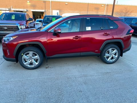 Ruby Flare Pearl Toyota RAV4 XLE AWD Hybrid.  Click to enlarge.
