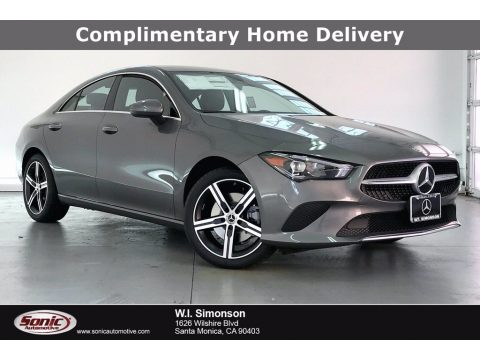 Mountain Gray Metallic Mercedes-Benz CLA 250 Coupe.  Click to enlarge.