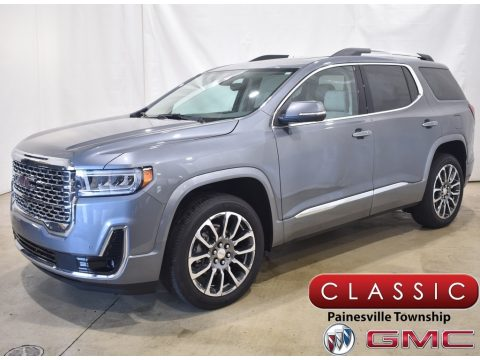 Satin Steel Metallic GMC Acadia Denali AWD.  Click to enlarge.