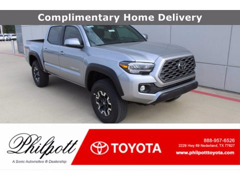 Silver Sky Metallic Toyota Tacoma TRD Off Road Double Cab 4x4.  Click to enlarge.
