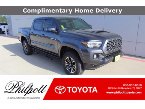 Magnetic Gray Metallic Toyota Tacoma TRD Sport Double Cab.  Click to enlarge.