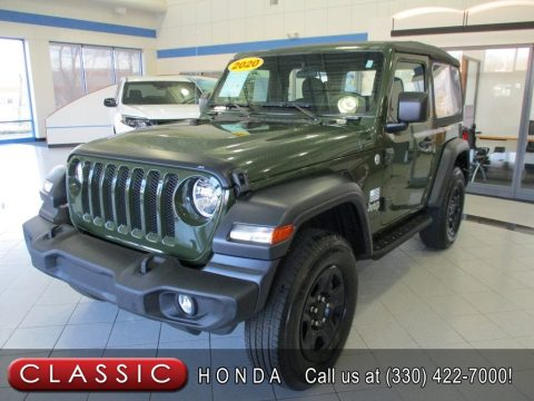 Sarge Green Jeep Wrangler Sport 4x4.  Click to enlarge.