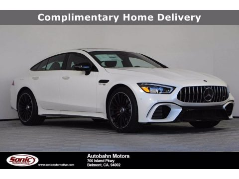 designo Diamond White Metallic Mercedes-Benz AMG GT 63.  Click to enlarge.