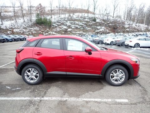 Soul Red Crystal Metallic Mazda CX-3 Sport AWD.  Click to enlarge.