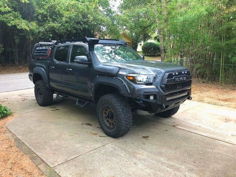 Magnetic Gray Metallic Toyota Tacoma TRD Off-Road Double Cab 4x4.  Click to enlarge.