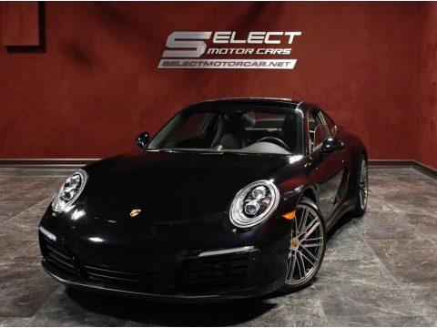 Black Porsche 911 Carrera 4S Coupe.  Click to enlarge.
