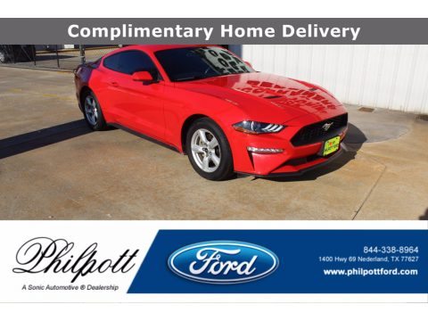 Race Red Ford Mustang EcoBoost Fastback.  Click to enlarge.