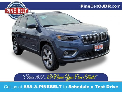 Slate Blue Pearl Jeep Cherokee Limited 4x4.  Click to enlarge.