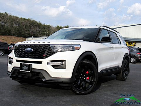 Star White Metallic Tri-Coat Ford Explorer ST 4WD.  Click to enlarge.