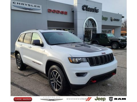 Bright White Jeep Grand Cherokee Trailhawk 4x4.  Click to enlarge.
