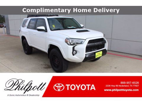 Super White Toyota 4Runner TRD Pro 4x4.  Click to enlarge.